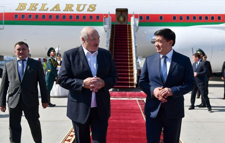 Presidents Of Kazakhstan And Belarus Arrive In Kyrgyzstan