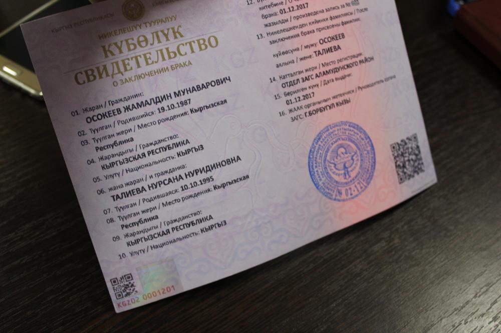 расторжение брака в киргизии