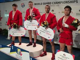 Kyrgyzstani takes 2nd place at World Sambo Championship