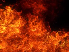 Five residential buildings burn down in Osh city