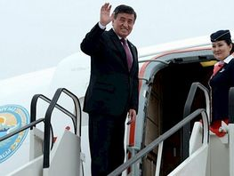 President of Kyrgyzstan leaves for China