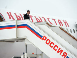 President of Kyrgyzstan Sadyr Japarov arrives in Moscow