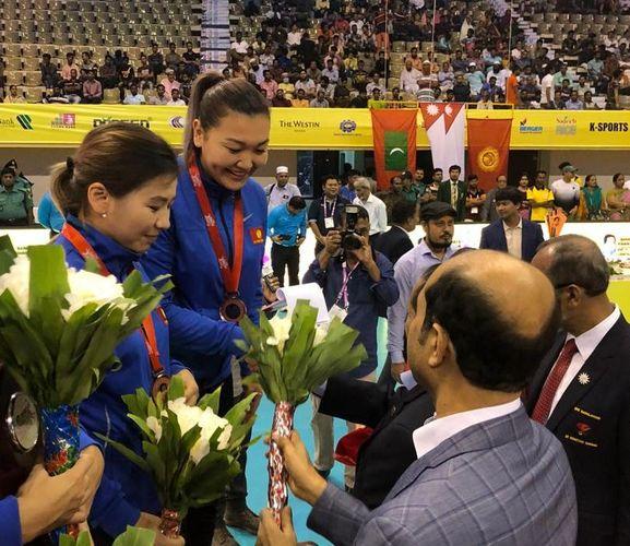 Фото из архива Айдай Кадыровой. Айдай Кадырова (вторая слева) на чемпионате Азии – 2019