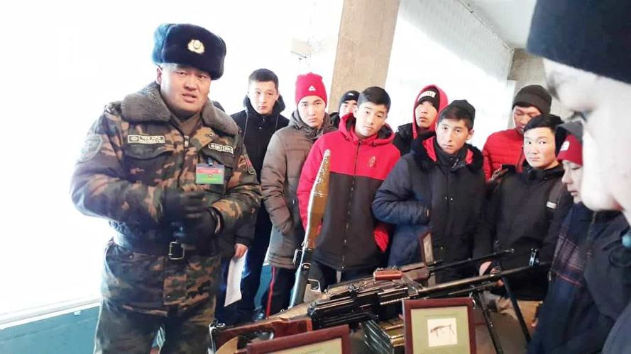 Фото пресс-службы ГПС. Пограничники провели уроки мужества для молодого пополнения