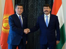Jeenbekov meets with President, Chairman of National Assembly of Hungary