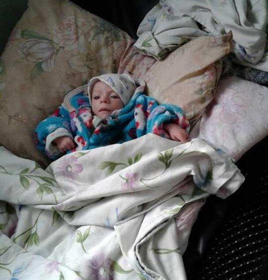 Фото из Facebook. Дети, госпитализированные в Токмакскую больницу