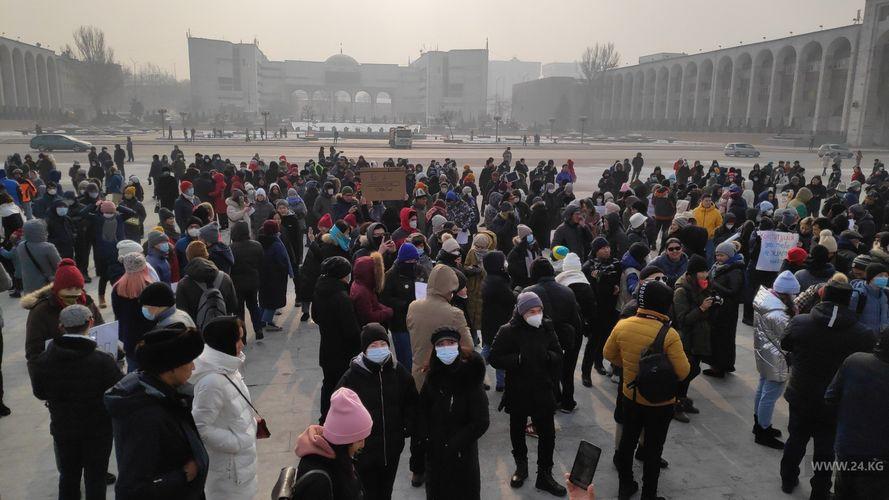 Фото 24.kg. Митинг против референдума