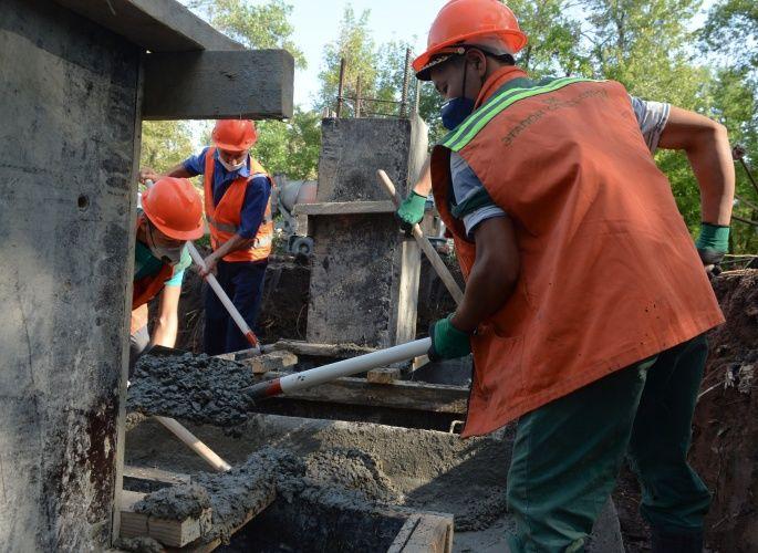Фото Султана Досалиева. В Бишкеке начали строить новую инфекционную больницу