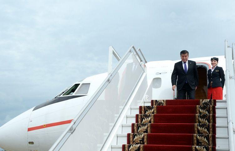 Фото аппарата президента КР. Сооронбай Жээнбеков прибыл в Сочи
