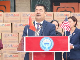 U.S. Government ships 75 tons of food to Kyrgyzstan in 2018