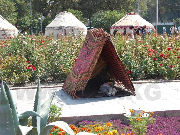 Фото ИА «24.kg». Особый интерес вызвали индейские жилища