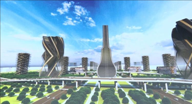 Фото из интернета. Проект будущего города Асман