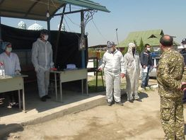 Another quarantine post set up in Batken