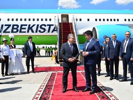 President of Uzbekistan, Prime Minister of India arrive in Kyrgyzstan
