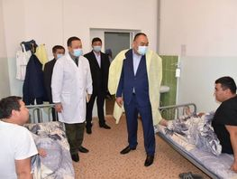 Interior Minister visits police officers injured during riots in Bishkek
