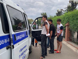 Bus with illegal immigrants from Kyrgyzstan stopped in Krasnoyarsk