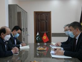Education Minister of Kyrgyzstan meets with Ambassador of Pakistan