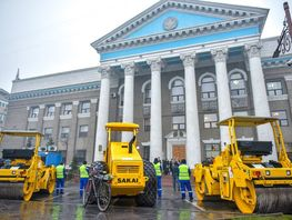 Japan grants road rollers to Bishkek