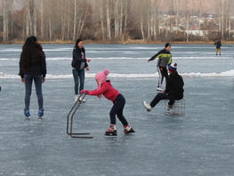 Bishkek City Hall opens free skating rink
