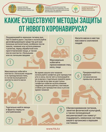 Фото скриншот из соцсетей. Такое же объявление, где отчетливо виден герб Казахстана