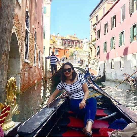 Фото из Instagram Лунары Мамытовой. В Венеции
