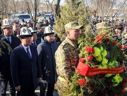 Officials pay tribute to victims of Aksy events at tragedy site