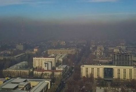 Air pollution in Bishkek caused by inadequate management