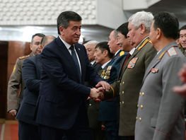 Jeenbekov: Feat of Afghan war participants will remain example of patriotism