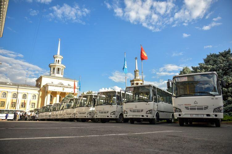 Фото пресс-службы мэрии. В Бишкеке на линию вышли новые автобусы